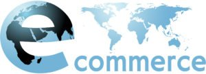ecommerce Earth internet world word with world map
